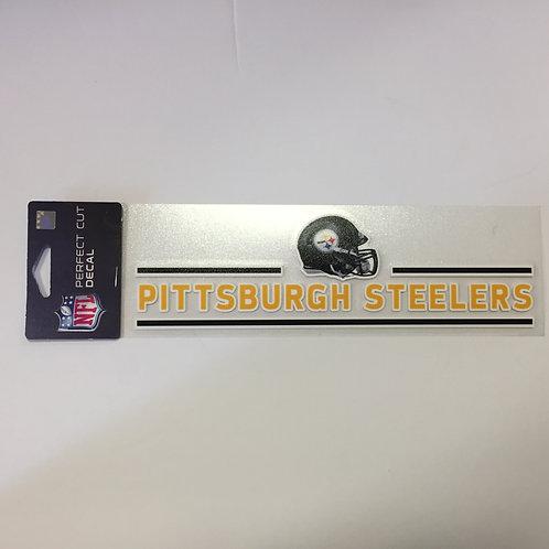 "Pittsburgh Steelers 10"" Helmet Design Perfect Cut Decal"