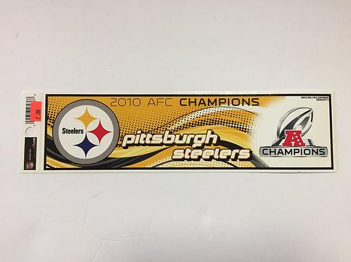 Pittsburgh Steelers 2010 AFC Champ Bumper Sticker