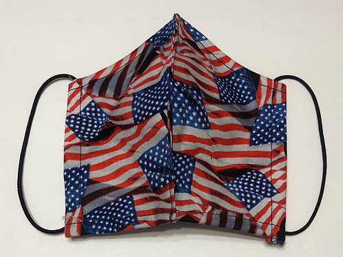 KIDS Flag Face Mask (Individually Hand Made In The USA) Washable