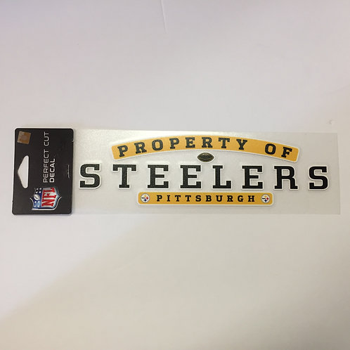 "Property of Pittsburgh Steelers 10"" Perfect Cut Decal"