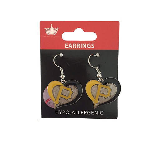 Pittsburgh Pirates Heart Pirate Earrings