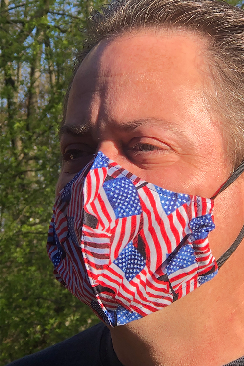 Flag Face Mask (Individually Hand Made In The USA)