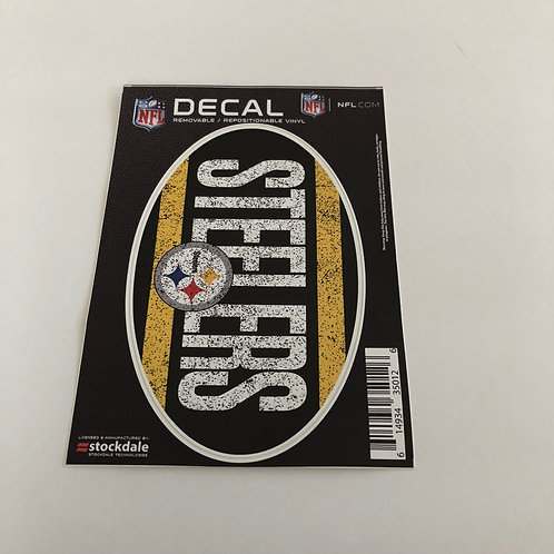 Pittsburgh Steelers Oval Repositionable Decal