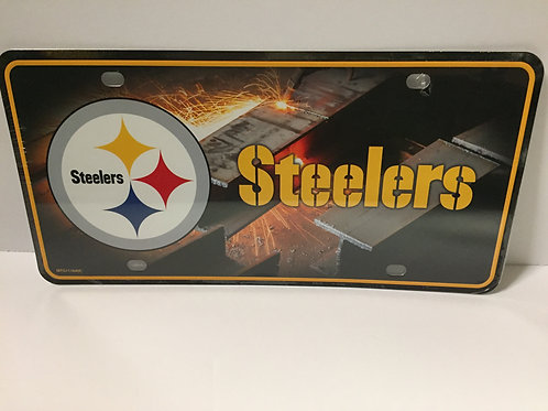 Pittsburgh Steelers Welding Background - License Plate