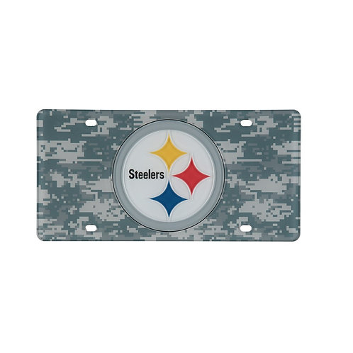 Pittsburgh Steelers, Camo Style -  License Plate