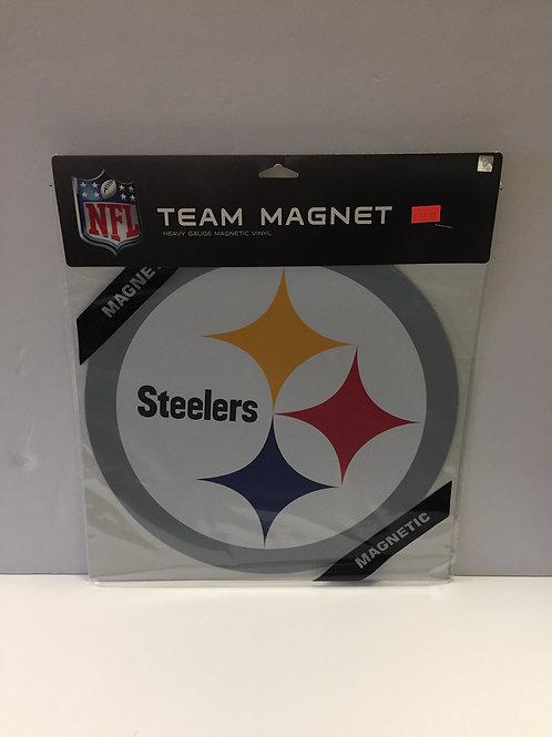 "Pittsburgh Steelers Big 12""x12"" Emblem Magnet"