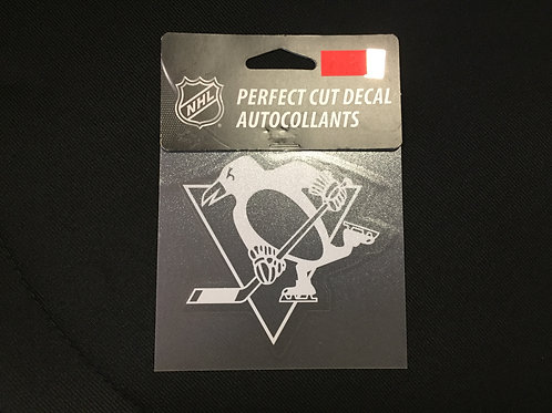 Pittsburgh Penguins White Perfect Cut Decal Autocollants
