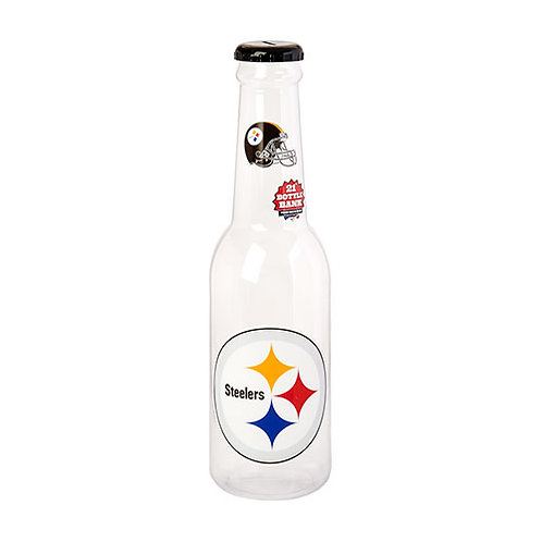 "Pittsburgh Steelers 21"" Jumbo Bottle Coin Bank"