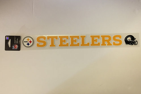 "Pittsburgh Steelers 17"" Helmet & Emblem Perfect Cut Decal"