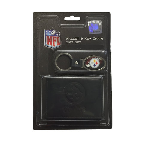 Pittsburgh Steelers Wallet & Key-Chain Set