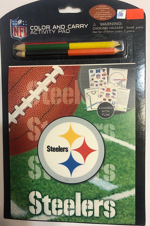 NFL Steelers Color and Carry Activity Pad