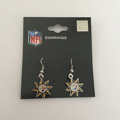Pittsburgh Steelers Sun Shaped Earrings