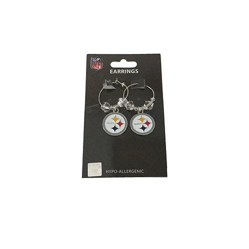 Pittsburgh Steelers Bling Hoop Earrings