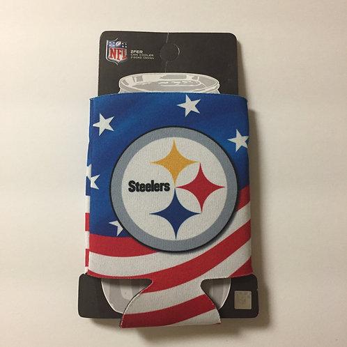 Pittsburgh Steelers American Flag Can Koozie