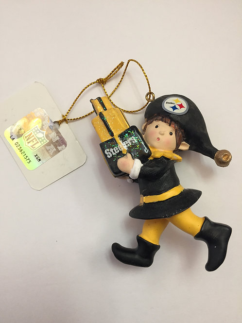 Pittsburgh Steelers Christmas Elf Ornament