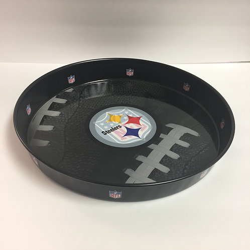 Pittsburgh Steelers Black Metal Serving Tray