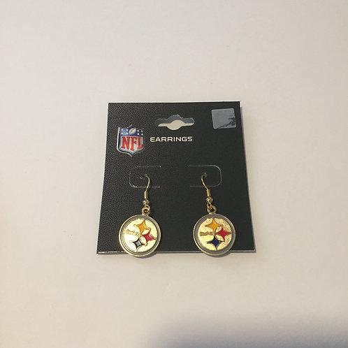Pittsburgh Steelers Emblem Dangle Earrings