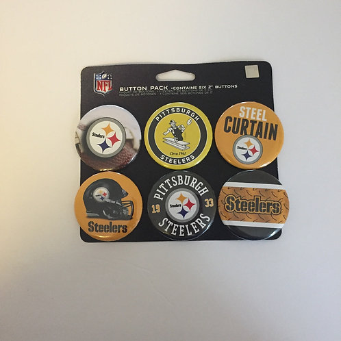 Pittsburgh Steelers 6 Pack of Buttons