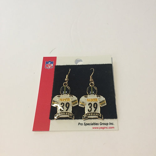 Pittsburgh Steelers #39 Parker Earrings