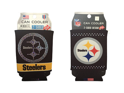 Pittsburgh Steelers Bling Can Koozie