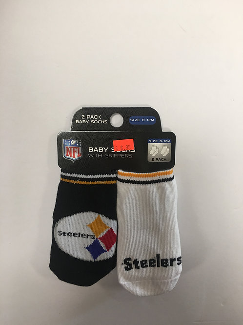Pittsburgh Steelers, Baby Socks with Grippers