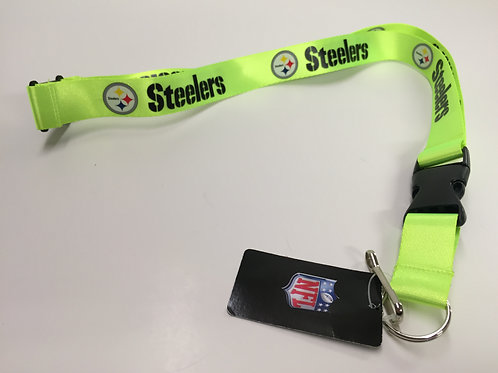 Pittsburgh Steelers Lime Green Lanyard