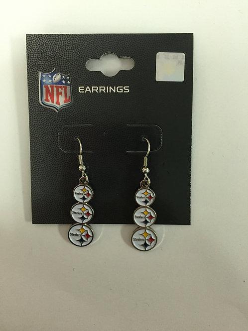 Pittsburgh Steelers 3 Emblems Earrings