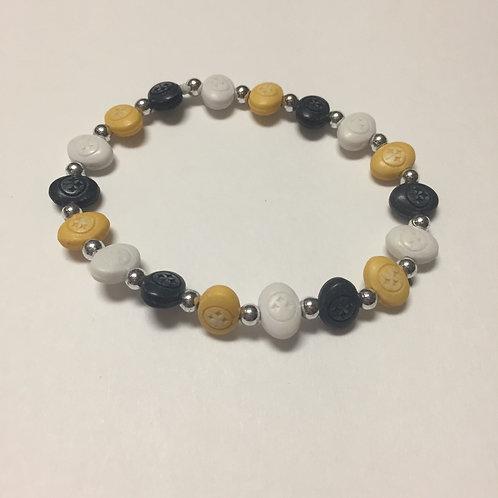 Pittsburgh Steelers Bead Bracelet