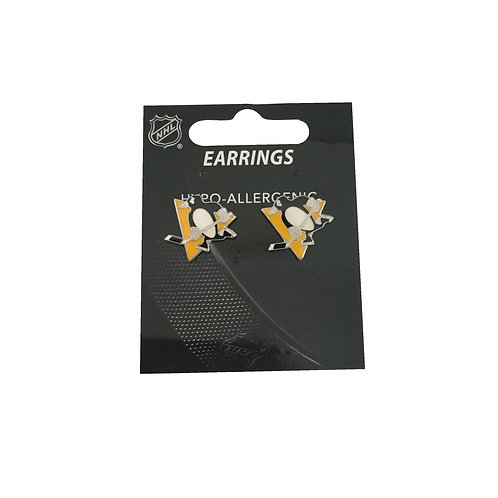 Pittsburgh Penguin Logo Studs Earrings