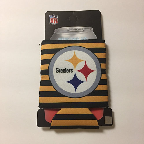 Pittsburgh Steelers Horizontal Stripes Can Koozie