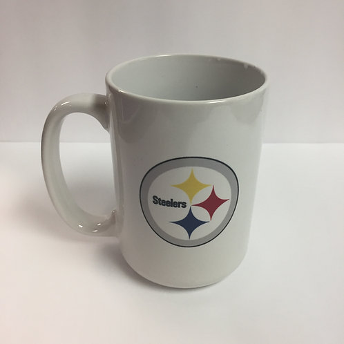 Pittsburgh Steelers 16oz White Emblem Mug