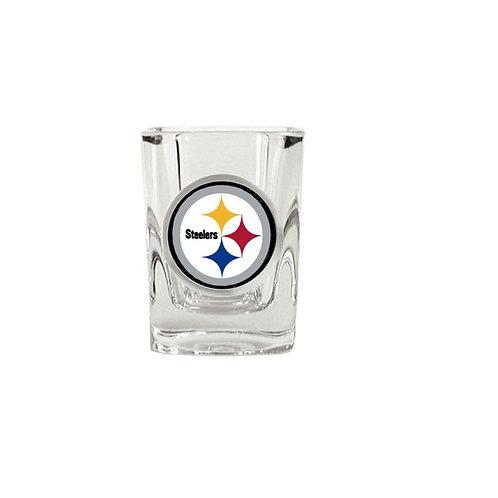 Pittsburgh Steelers 2oz Square Black Shot Glass