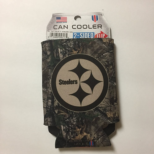 Pittsburgh Steelers, 2 Sided Camo Can Koozie