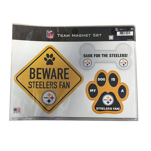 Pittsburgh Steelers 'My Dog' Team Magnet Set