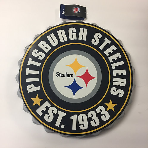 Pittsburgh Steelers EST 1933 Bottle Cap Wall Sign