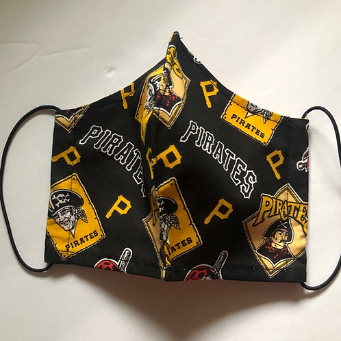 Pirates Face Mask (Individually Hand Made In The USA) Washable