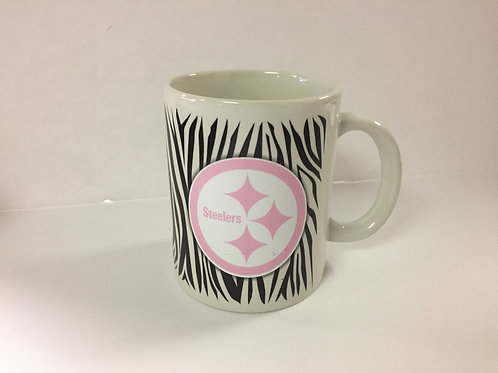 Pittsburgh Steelers Zebra Print Pink Mug