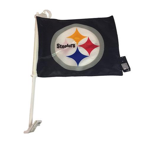 Pittsburgh Steelers Black Emblem Car/Wall Flag