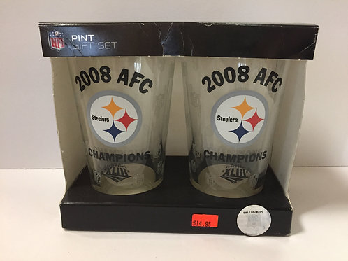 Pittsburgh Steelers Pint Gift Set 2008