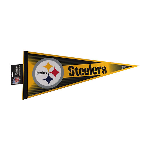 Pittsburgh Steelers Black and Gold Pennant Flag