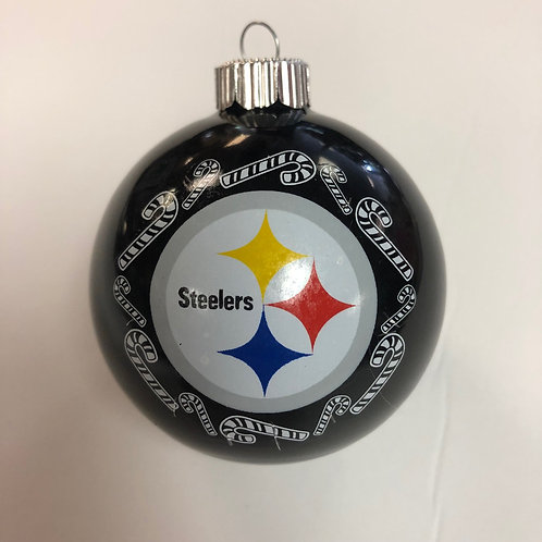 Steelers Black Candy Cane Ornament Ball