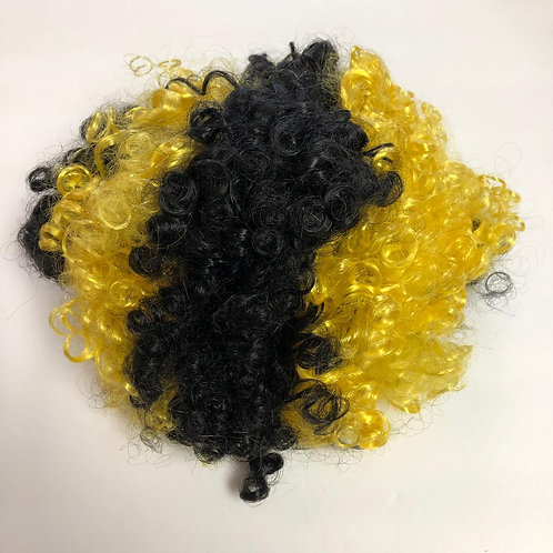 Pittsburgh Black & Gold Fan Wig