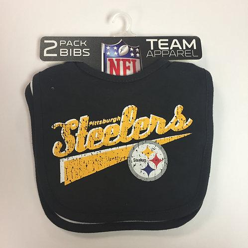 Pittsburgh Steelers, 2 Pack of Baby Bibs