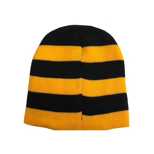 Pittsburgh Horizontal Black & Gold Striped Beanie