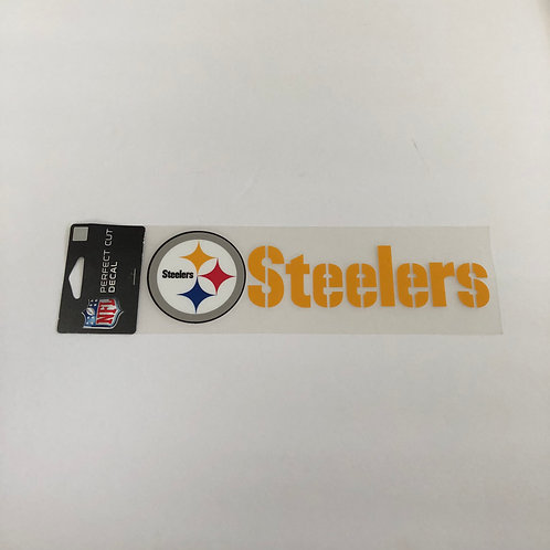 Pittsburgh Steelers Team Name Perfect Cut Decal