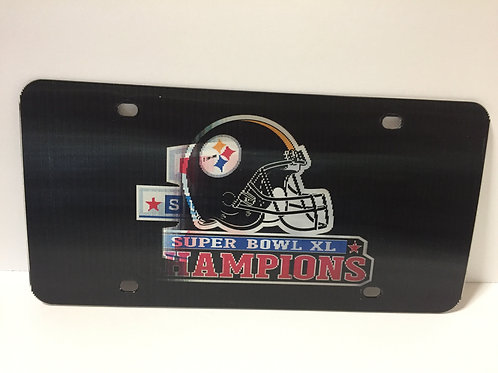 Pittsburgh Steelers Super Bowl XL Champions - Holographic License Plate