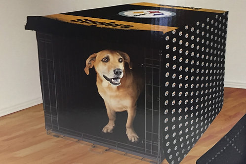 "Pittsburgh Steelers 30""x48"" Pet Crate Cover"