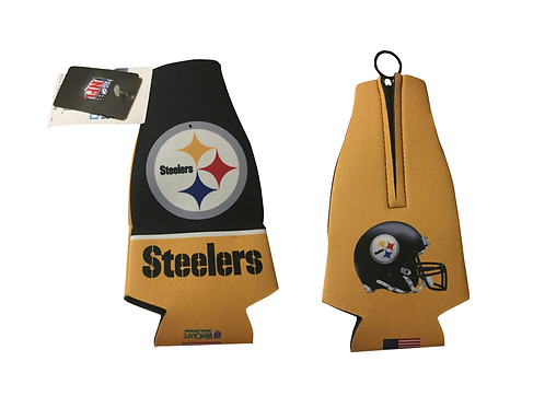 Pittsburgh Steelers 2 Sided Bottle Koozie