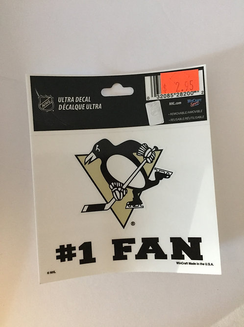 Pittsburgh Penguins #1 Fan Ultra Decal