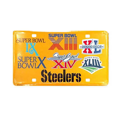 Pittsburgh Steelers 6X Super Bowl Champions - License Plate